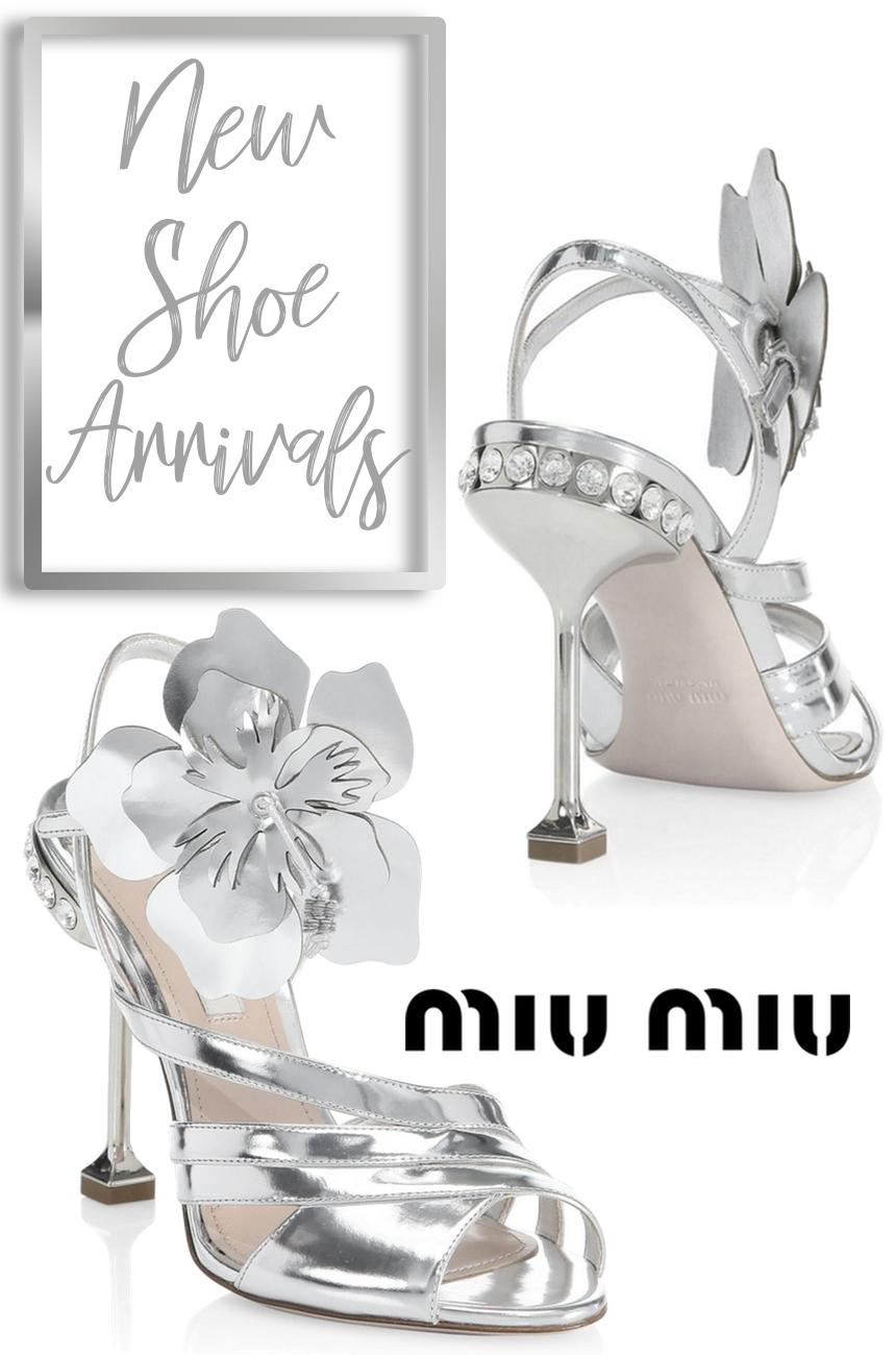 Miu Miu Metallic Leather Ankle-Strap Sandals
