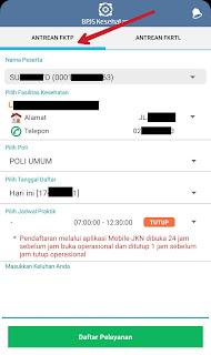 JKN Mobile pendaftaran pelayanan FKTP