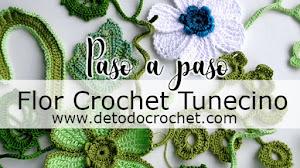 Flor Crochet Tunecino / Paso a paso