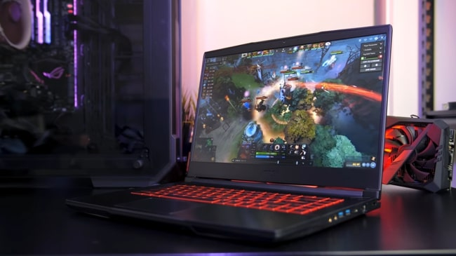 MSI GF63 gaming laptop. It is a thin and lightweight gaming laptop with high performance and disappointing display. It has Intel Core i7 CPU with NVIDIA GeForce GTX 1650 Max-Q 4GB GDDR5 and 16GB of RAM.