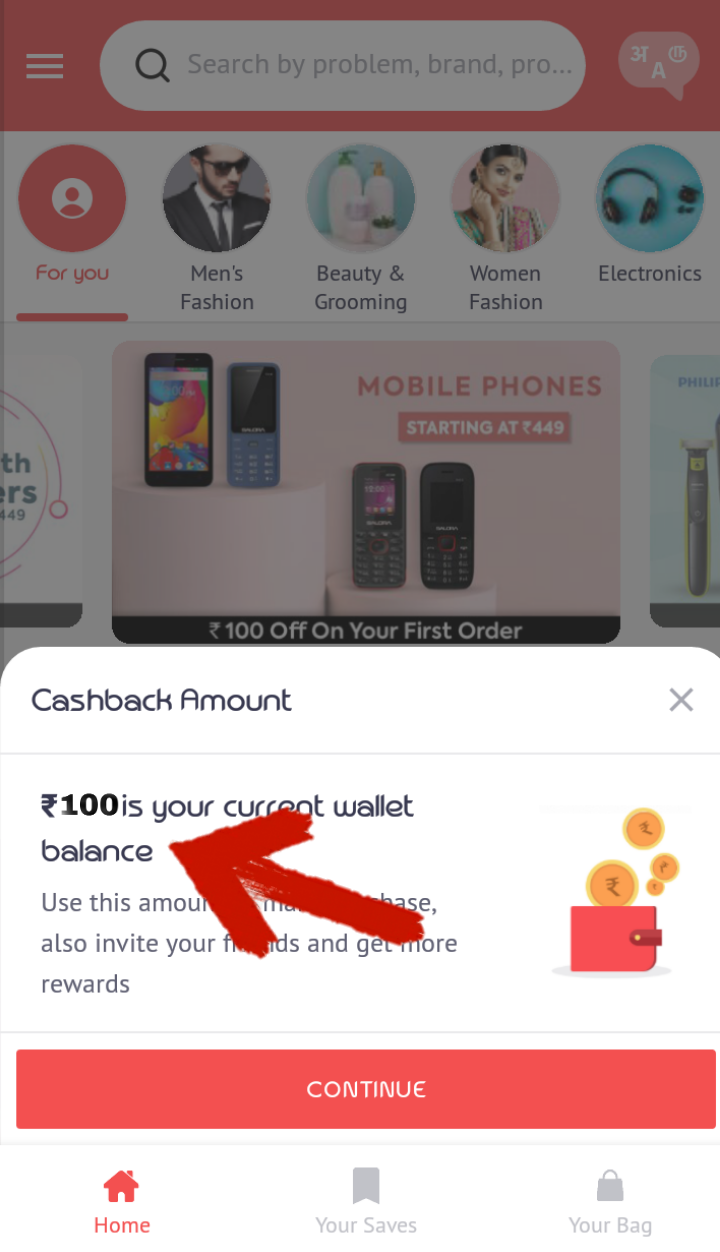 Get Rs100 Unlimited time