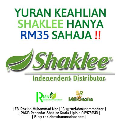 Yuran Keahlian Shaklee RM35
