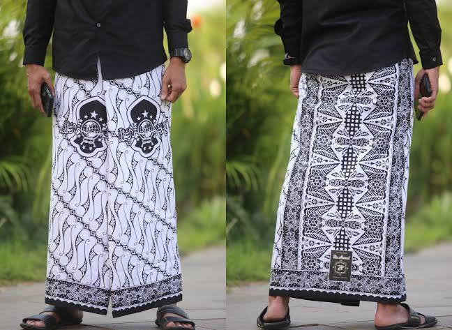 Sarung Batik Nu Motif Seno Putih