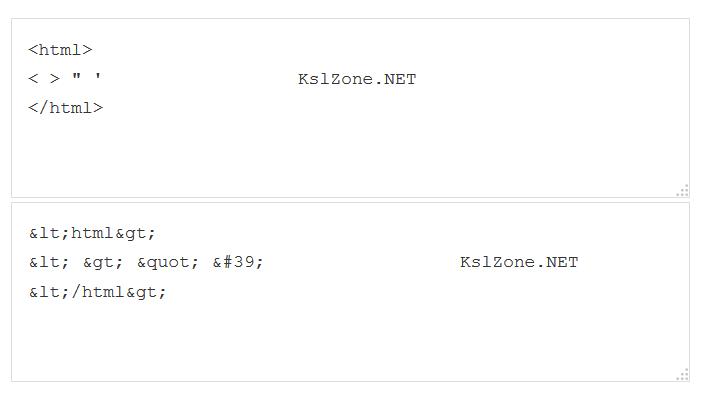 Chia sẻ code mã hóa ký tự HTML của KslZone.NET