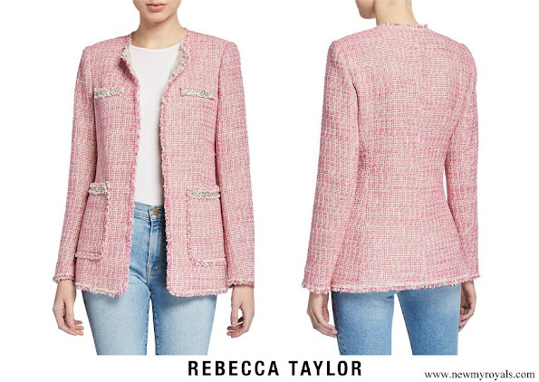 Princess Medeleine wore Rebecca Taylor Collarless Tweed Jacket