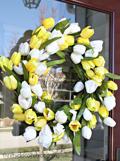 easy tulip spring wreath