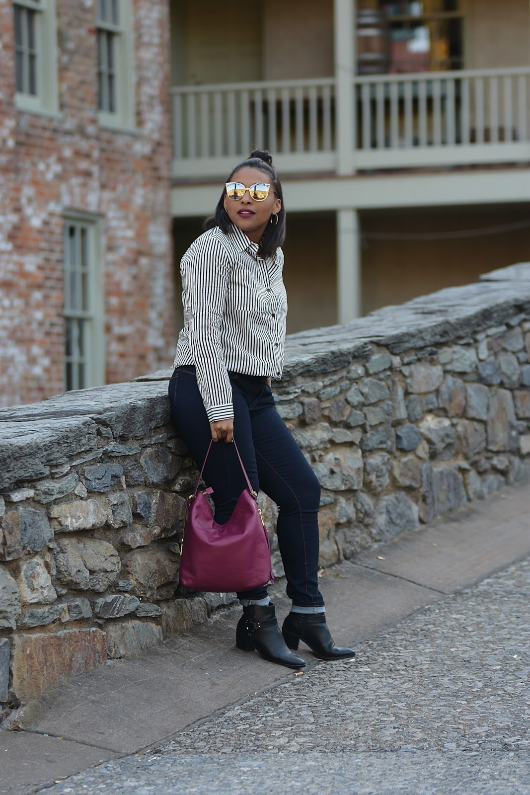 Harpers Ferry, maryland, travel places, fossil, fossil bags, latina blogger, dominican blogger, streetstyle, fall fashion, zaful, west virginia