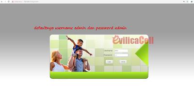 Halaman Login Admin Router