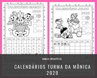 Calendários 2020 Turma da Mônica