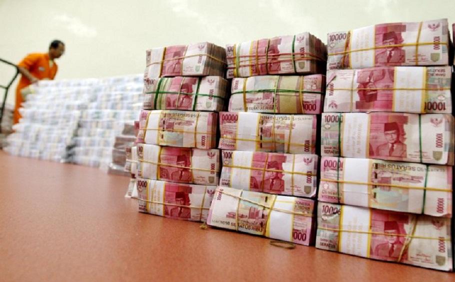 Tumpukan uang rupiah