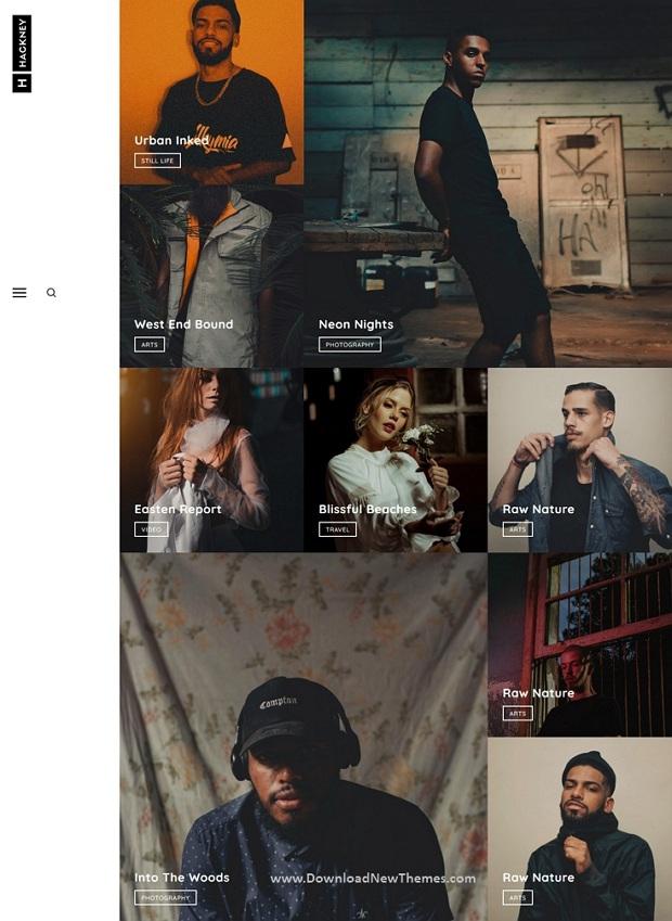 Hackney - Minimal Creative Portfolio Template