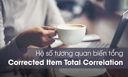 Hệ số tương quan biến tổng Corrected Item - Total Correlation