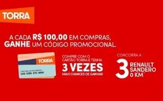 Promoção Lojas Torra 2019 Natal e Final de Ano Automóveis 0KM