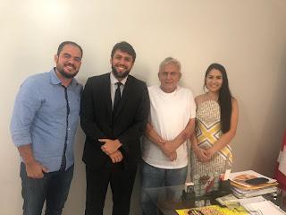 Paulo Curió se reúne com o Deputado Federal Pedro Lucas (PTB) e o ex-deputado Pedro Fernandes e discutem demandas para Turilândia