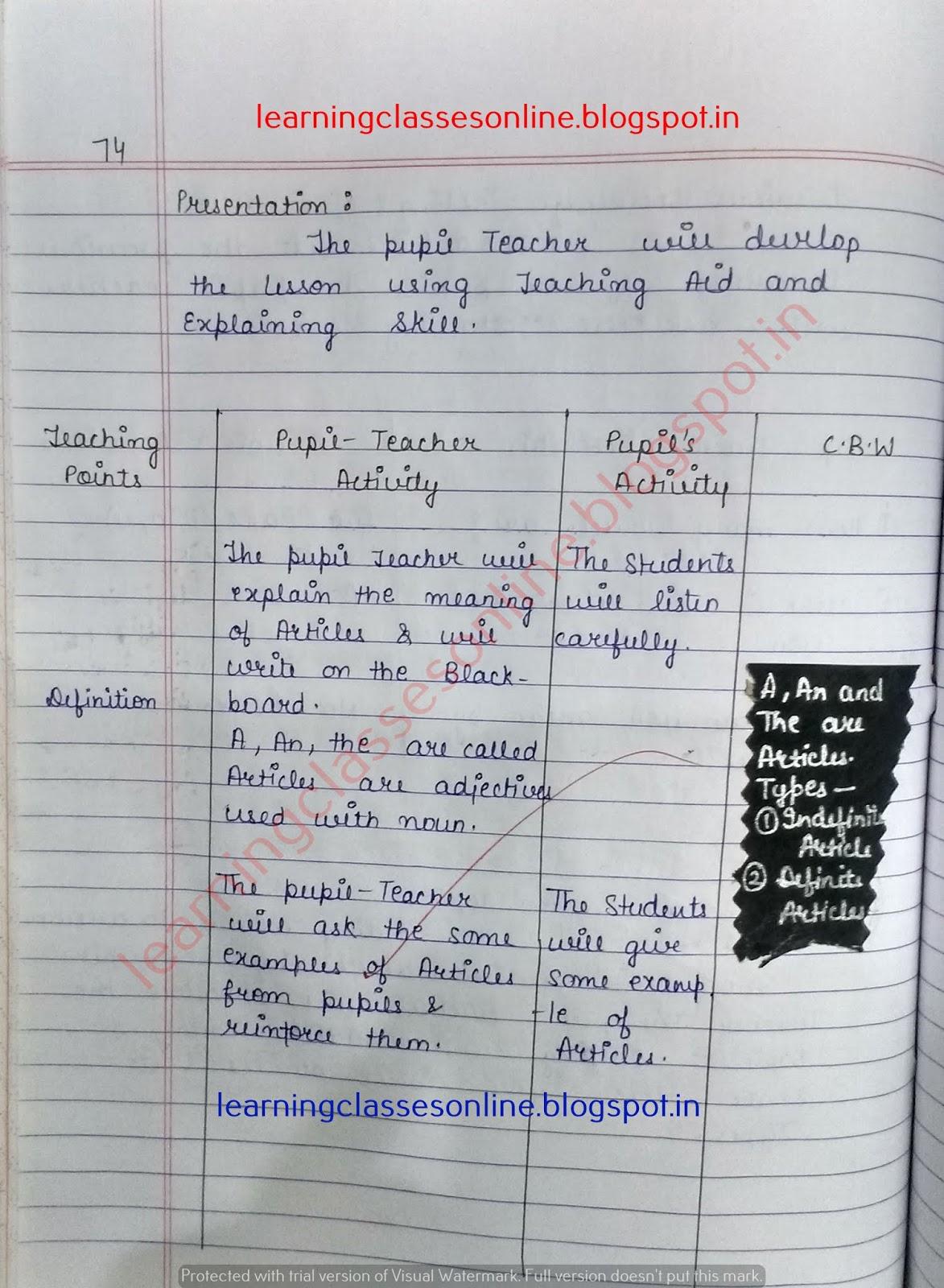 lesson plans for teaching english grammar,