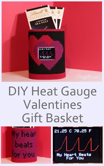 Maker Love - DIY Heat Gauge Valentines Day Gift Basket #Wearables, #IoT #Maker