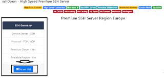 Meilih Server Germany Di Situs SSHOcean