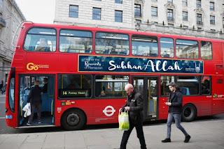 Islamic Relief Pasang Iklan Kalimat Tasbih Subhanallah di Bus-Bus Inggris