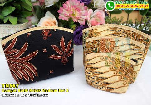 Dompet Batik Kotak Medium Set 3