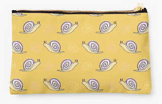 Cute Snail Illustration Pouch