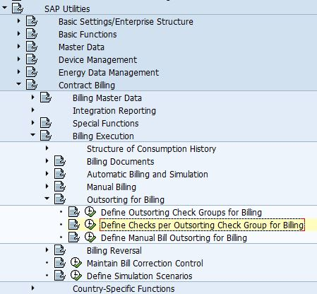 SAP ISU ABAP: Billing: Define Checks per Outsorting Check