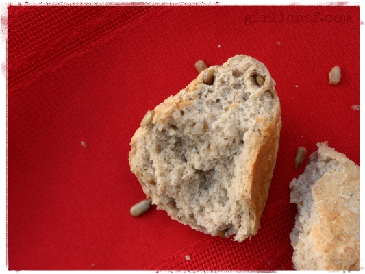 Sonnenblumenkernbrot (Sunflower Seed Rolls) inspired by The Baker's Daughter {cook the books} | www.girlichef.com