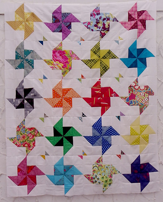 Half Square Triangle Quilt designed by Alison of Little Island Quilting
