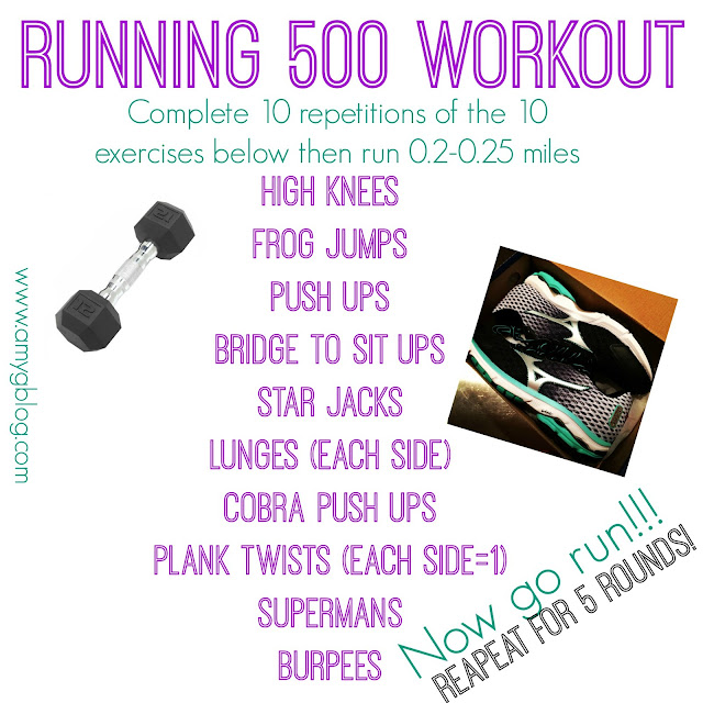 Running 500 Total body cardio workout