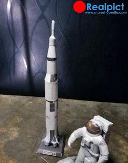 DIY Papercraft Luar Angkasa Amerika Roket saturn V Roket Ruang Folding 3D Kertas Model Sci-fi Papercraft