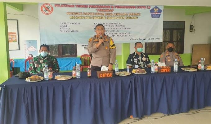 Kapolres Serang Buka Pelatihan Teknis Pencegahan dan Penanganan Covid-19, Terhadap Petugas Posko PPKM Desa Cikande Permai