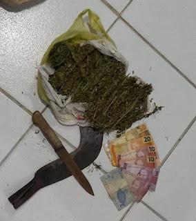 EQUIPE DE POLICIAIS MILITARES DO 16º BATALHÃO PRENDE HOMEM POR TRÁFICO DE DROGAS EM PAULINO NEVES/MA