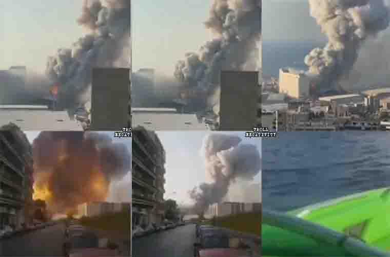 Video Detik-Detik Ledakan Besar di Beirut, Lebanon
