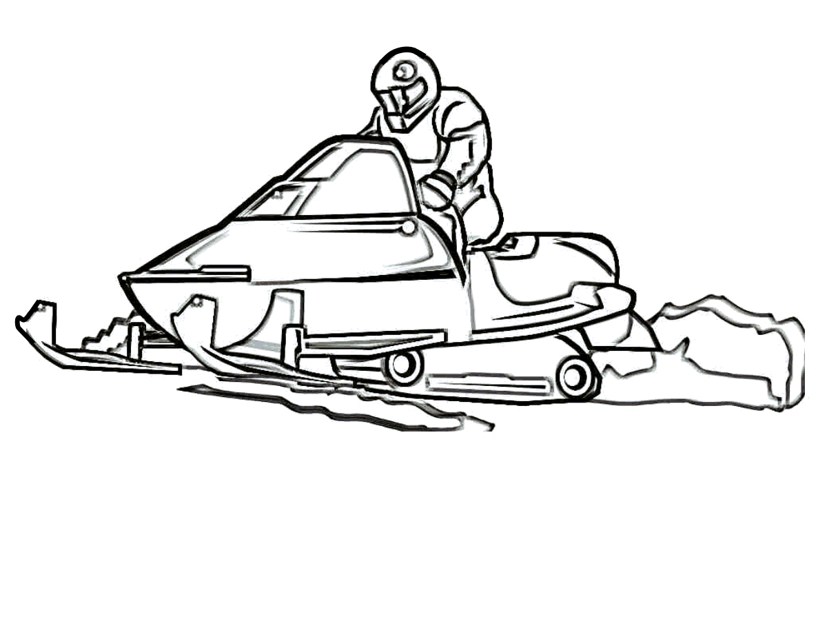 Sports Photograph Coloring Pages Kids: Winter Sports