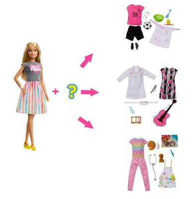 Кукла Барби и наборы одежды Barbie Surprise Careers Doll with Accessories 2019 - фото
