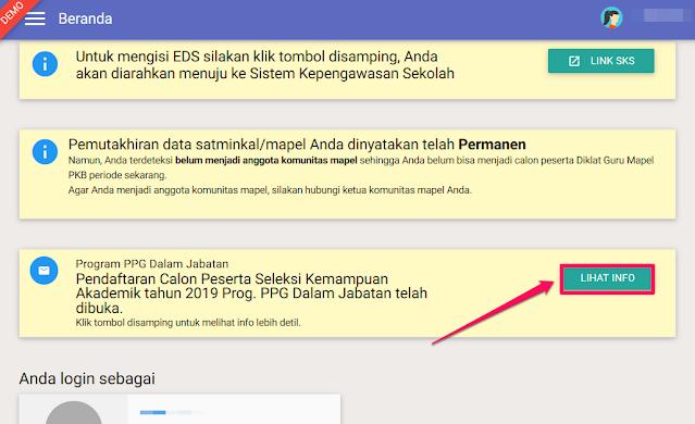 notifikasi pendaftaran PPG