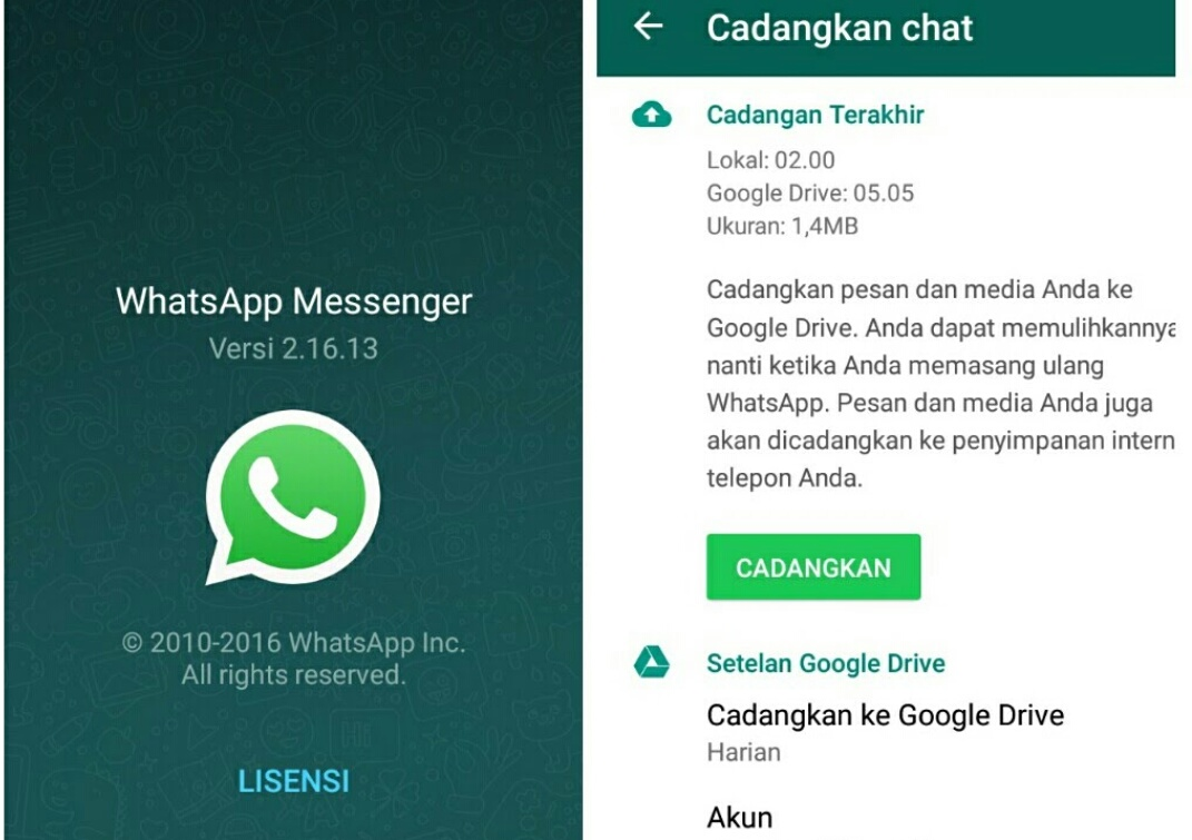 Cara Backup Mencadangkan Data Chat Whatsapp Ke Google Drive Cacatrik