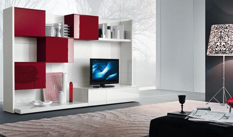 Moderne tv veggen enheter - interi?r inspirasjon