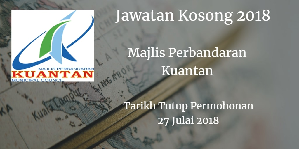 Jawatan Kosong MPK 27 Julai 2018