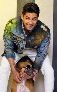 Sidharth Malhotra With Dog
