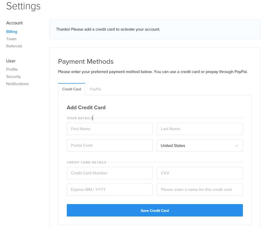 add payment method at digitalocean to get free credit