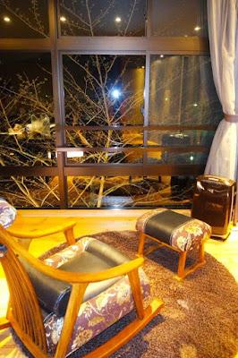 Living room at Botan room in Hanayashiki Ukifuneen Uji Japan
