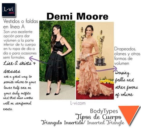 [Inverse Triangle] Demi Moore styling. L-vi.com