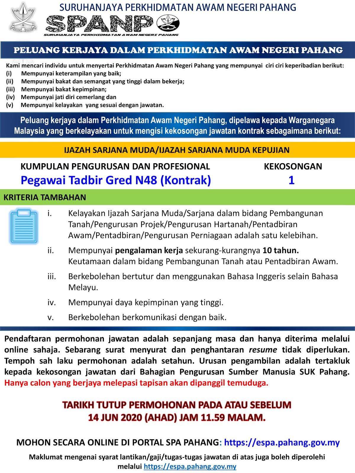 Suruhanjaya Perkhidmatan Awam Negeri Pahang Spanp