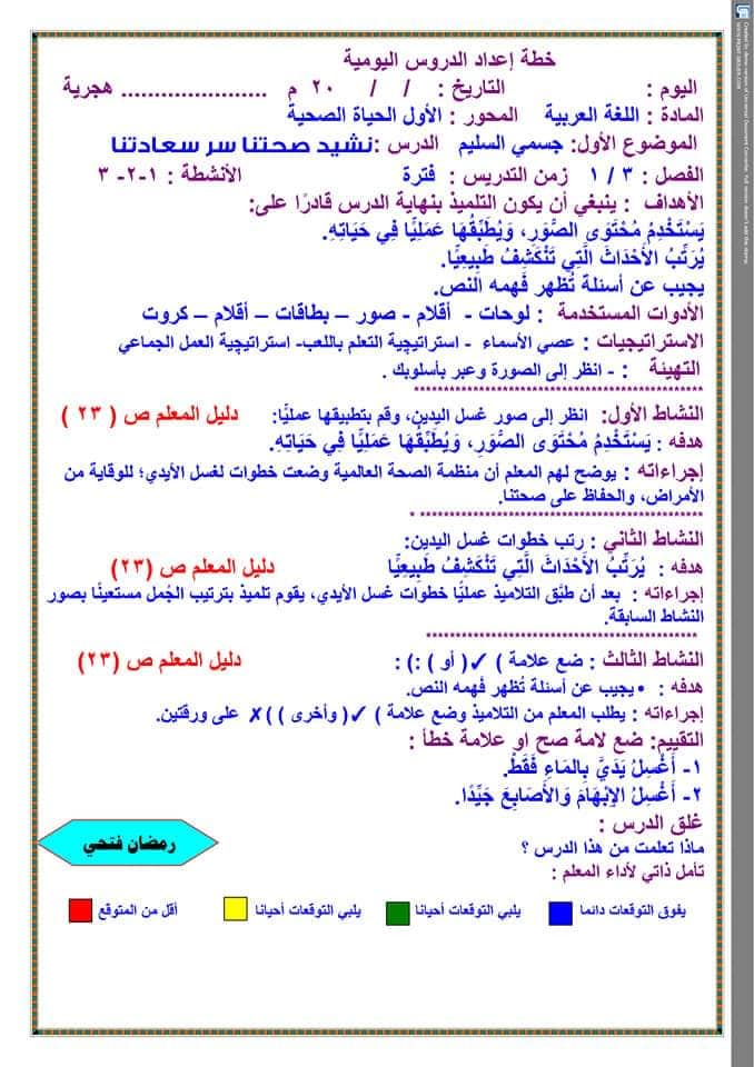 تحضير دروس نافذة اللغة العربية للصف الثالث الابتدائي  أ / رمضان فتحي 10