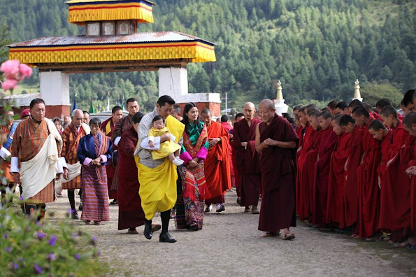 King Jigme Khesar Namgyel Wangchuck, Queen Jetsun Pema and Crown Prince Jigme Namgyel Wangchuck (The Gyalsey)
