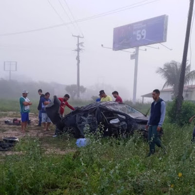 Morador  de Santana do Ipanema morre após capotar carro na AL-130 em Olho D´Água das Flores