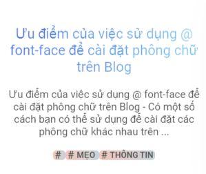 Ưu điểm của việc sử dụng @ font-face để cài đặt phông chữ trên Blog