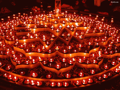Deepavali Lighted DIya Rangoli