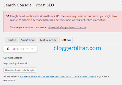 Search console Yoast