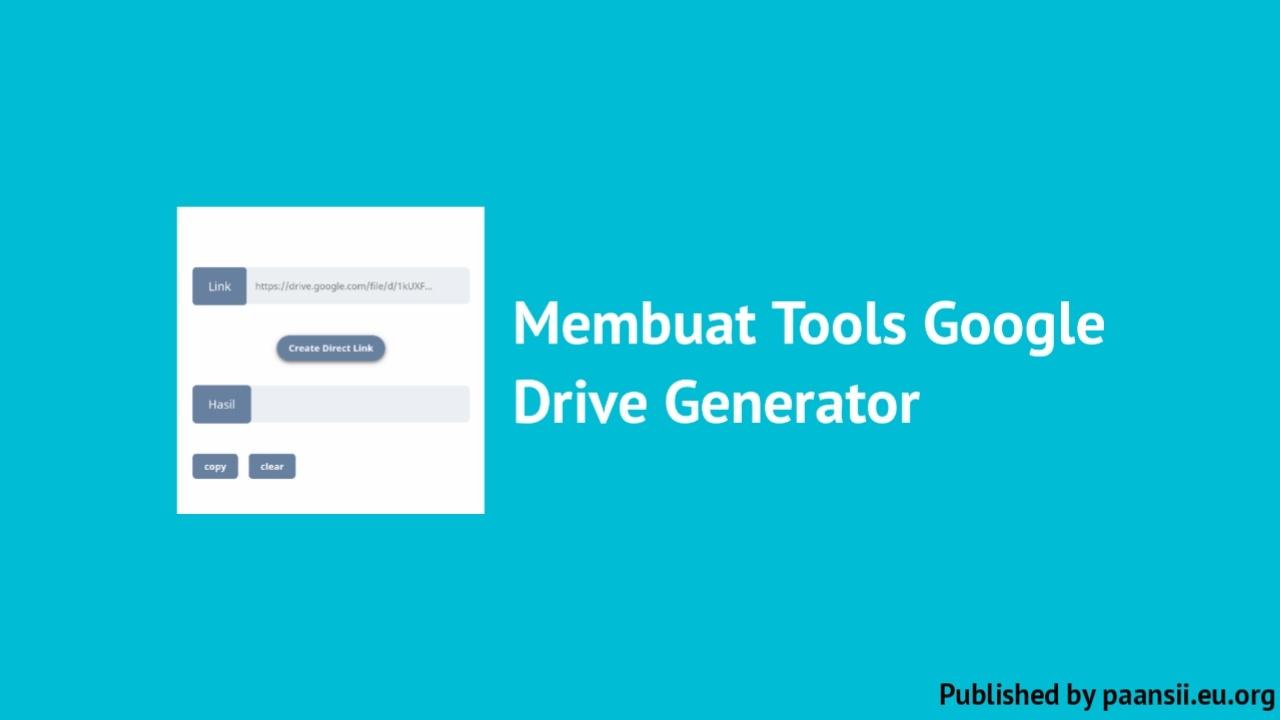 Membuat Tools Google Drive Generator